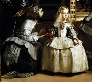Diego Velazquez - Las Meninas (detail) - (Famous paintings reproduction)