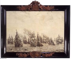 Willem Van De Velde - The Battle of Livorno