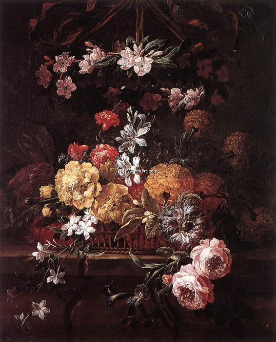 Flower Piece, Oil On Canvas by Gaspar Pieter The Younger Verbruggen (1664-1730, Belgium)