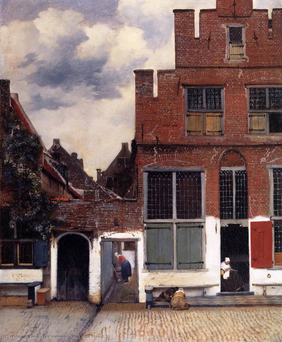The Little Street, Oil On Canvas by Jan Vermeer (1632-1675, Netherlands)