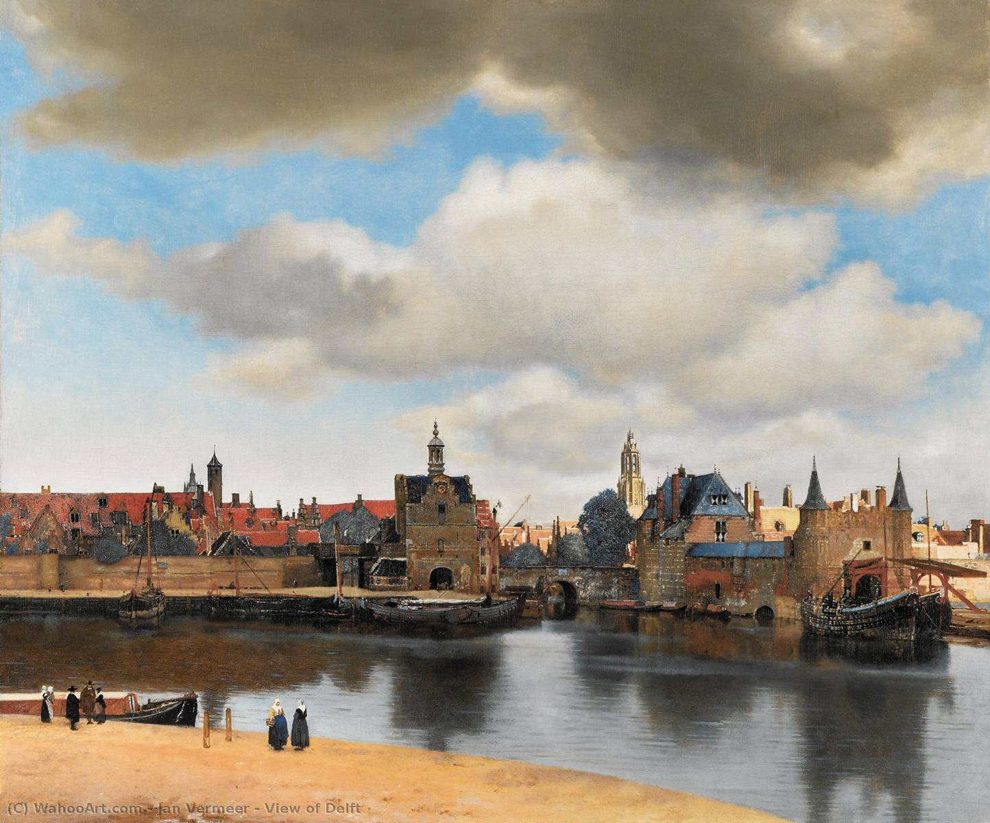 View of Delft, Oil On Canvas by Jan Vermeer (1632-1675, Netherlands)