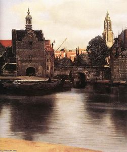Jan Vermeer - View of Delft (detail)