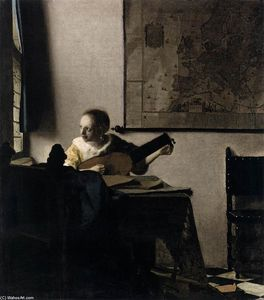 Jan Vermeer - Woman with a Lute near a Window