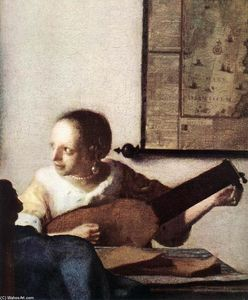 Jan Vermeer - Woman with a Lute near a Window (detail)