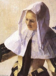 Jan Vermeer - Young Woman with a Water Jug (detail)