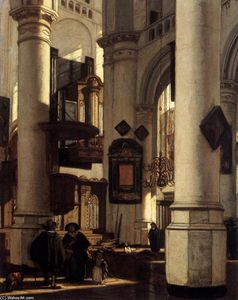 Emanuel De Witte - Interior of a Protestant Gothic Church