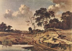 Jan Jansz Wijnants - Landscape with Dune