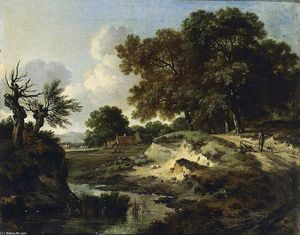 Jan Jansz Wijnants - Wooded Landscape