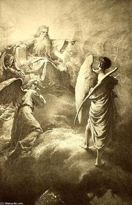 Mihaly Von Zichy - Illustration to Imre Madách's The Tragedy of Man: In the Heaven (Scene 1)