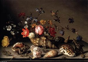 Balthasar Van Der Ast - Still-Life of Flowers, Shells, and Insects