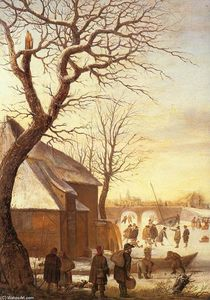 Hendrick Avercamp - Winter Landscape (detail)