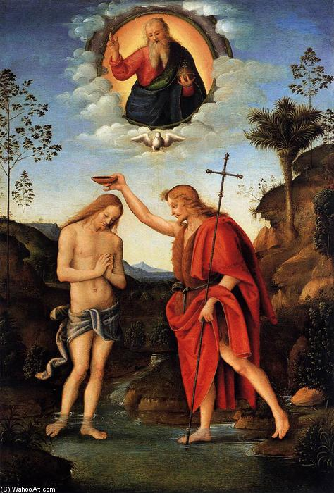 Baptism of Christ, 1520 by Francesco D'ubertino Verdi (Bacchiacca) (1494-1557, Italy) | Museum Quality Copies Francesco D'ubertino Verdi (Bacchiacca) | WahooArt.com