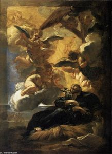 Giovanni Battista Gaulli (Baciccio) - The Vision of St Francis Xavier