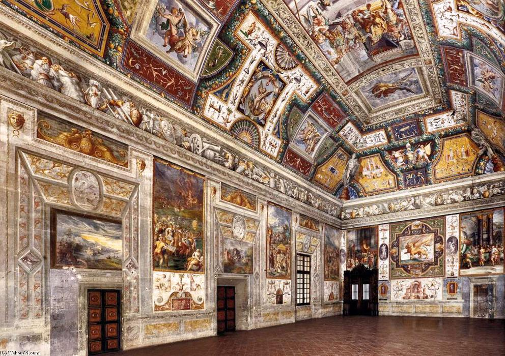 Interior view, Frescoes by Cesare Baglione (1525-1590, Italy)