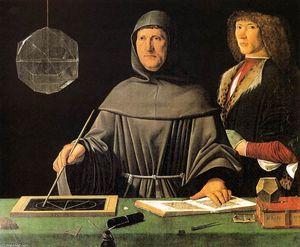 Jacopo De Barbari - Portrait of Fra Luca Pacioli and an Unknown Young Man