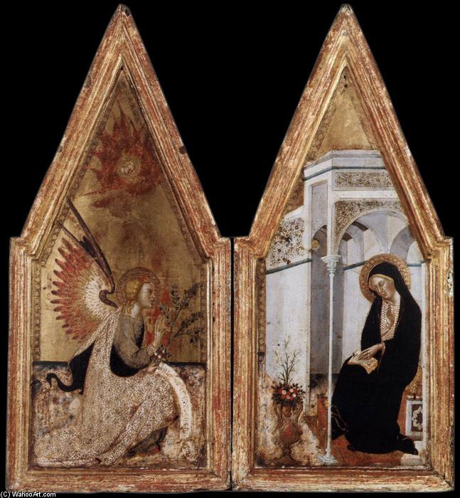 Annunciation, 1383 by Bartolo Di Fredi (1330-1410, Italy) | Famous Paintings Reproductions | WahooArt.com