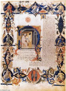 Bartolomeo Di Fruosino - Inferno, from the Divine Comedy by Dante (Folio 3v)