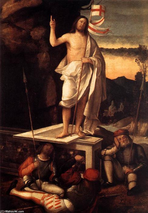 Resurrection of Christ, 1520 by Marco Basaiti (1470-1530, Italy) | Art Reproductions Marco Basaiti | WahooArt.com