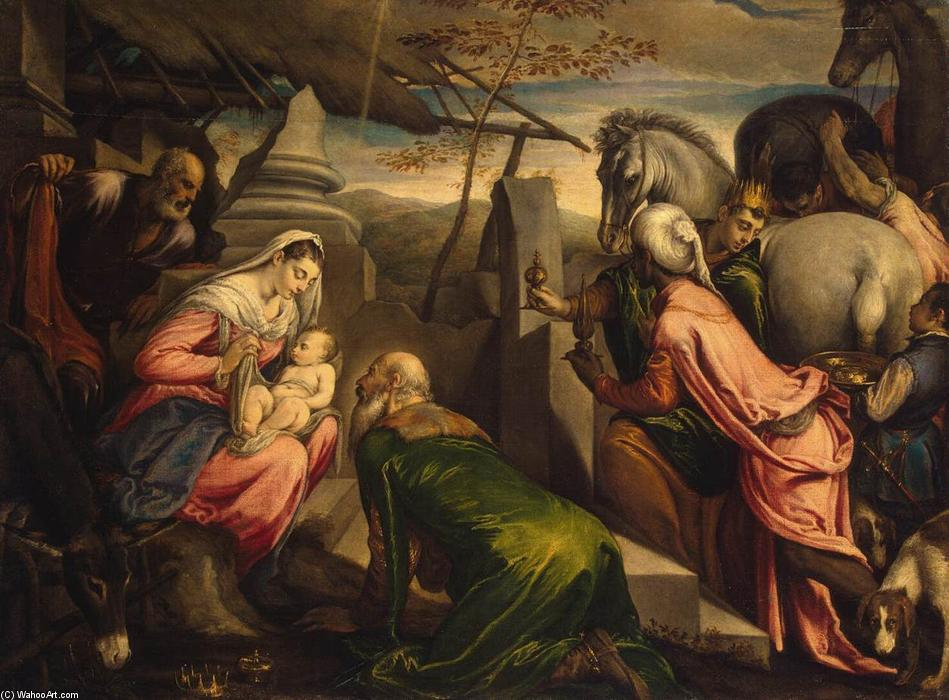 Adoration of the Magi, 1567 by Francesco Bassano The Younger (1549-1592, Italy) | Oil Painting | WahooArt.com