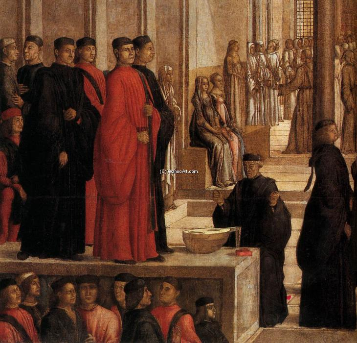The Relic of the Holy Cross is offered to the Scuola Grande di San Giovanni Evangelista (detail), 1494 by Lazzaro Bastiani (1429-1512, Italy) | WahooArt.com