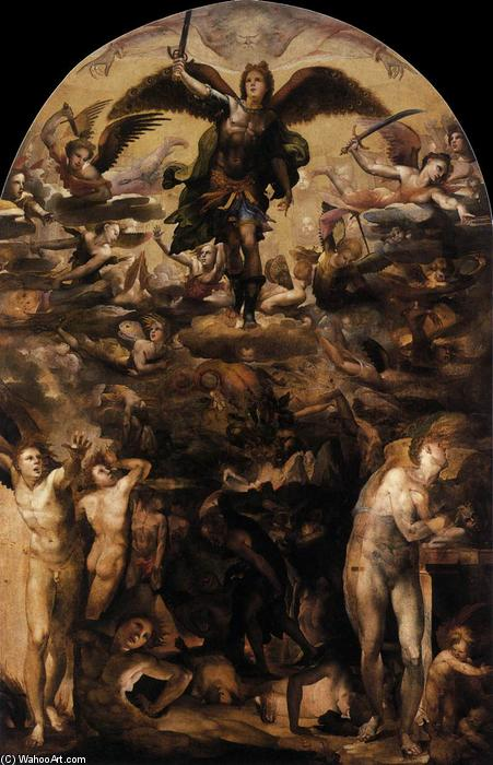 Fall of the Rebel Angels, 1524 by Domenico Di Pace Beccafumi (1486-1551, Italy) | Oil Painting | WahooArt.com