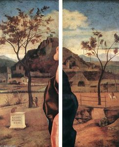 Giovanni Bellini - Madonna and Child Blessing (details)