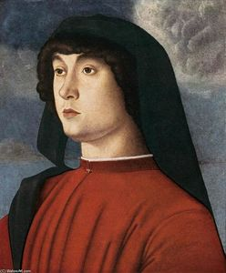 Giovanni Bellini - Portrait of a Young Man in Red