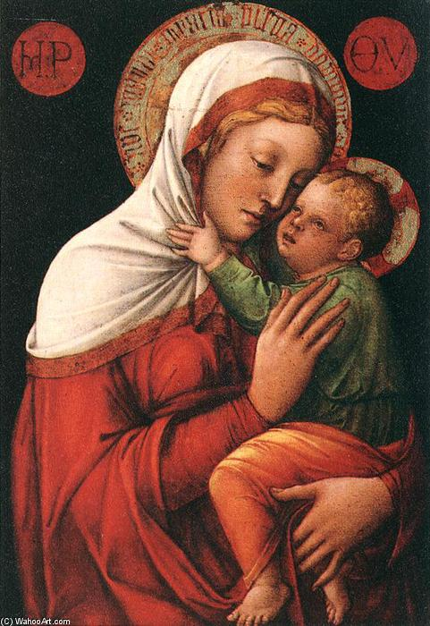 Madonna with Child, 1465 by Jacopo Bellini (1396-1470, Italy) | Oil Painting | WahooArt.com