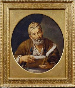 Pietro Bellotti - Old Philosopher with a Book