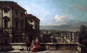 Bernardo Bellotto - Liechtenstein Garden Palace in Vienna Seen from the East