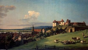 Bernardo Bellotto - View of Pirna from the Sonnenstein Castle