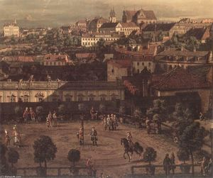 Bernardo Bellotto - View of Warsaw from the Royal Palace (detail)