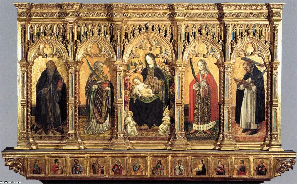 Madonna and Saints, 1462 by Benedetto Bembo (1423-1489, Italy) | Museum Quality Reproductions | WahooArt.com