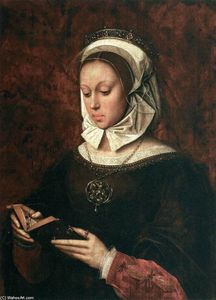 Ambrosius Benson - Young Woman in Orison Reading a Book of Hours