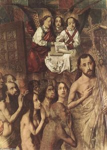 Bartolomé Bermejo - Christ Leading the Patriarchs to the Paradise (detail)