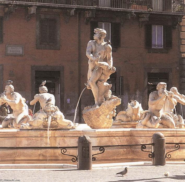 Fountain of the Moor, 1653 by Gian Lorenzo Bernini (1598-1680, Italy) | Art Reproduction | WahooArt.com