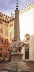 Gian Lorenzo Bernini - Fountain with Elephant and Obelisk