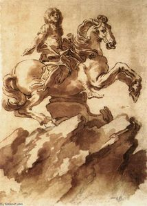 Gian Lorenzo Bernini - Study for an Equestrian Statue of Loius XIV