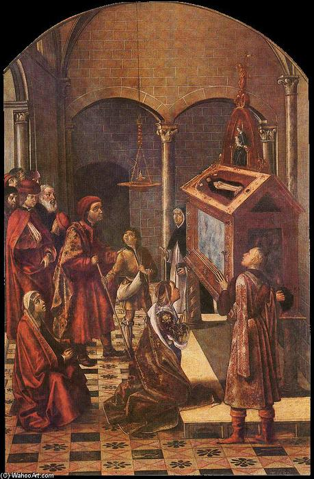 The Tomb of Saint Peter Martyr, 1495 by Pedro Berruguete (1450-1504, Spain) | Museum Quality Reproductions | WahooArt.com
