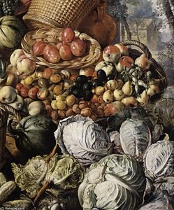 Joachim Beuckelaer - Market Woman with Fruit, Vegetables and Poultry (detail)