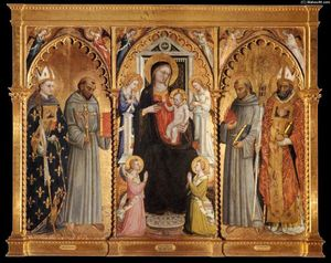 Bicci Di Lorenzo - Madonna and Child with Saints and Angels