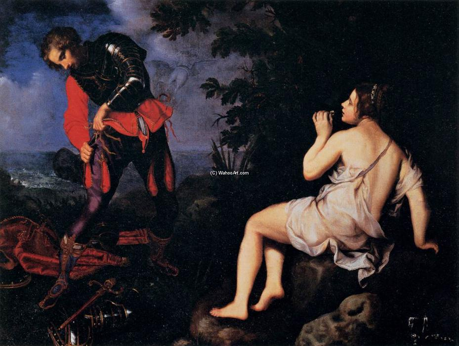 Angelica Hides from Ruggiero, 1623 by Giovanni Bilivert (1585-1644, Italy) | Art Reproduction | WahooArt.com