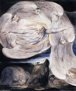 William Blake - Job Confessing his Presumption to God who Answers from the Whirlwind