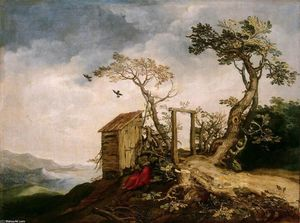 Abraham Bloemaert - Landscape with the Prophet Elijah in the Desert