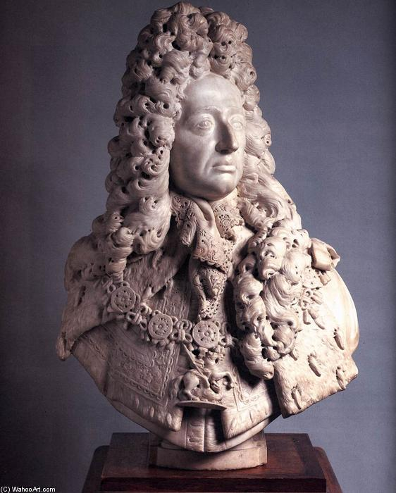 Stadholder-King Willem III, Marble by Reyer Van Blommendael (1628-1675, Netherlands)