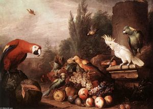 Jakob Bogdany - Still-life with Birds