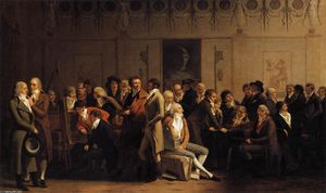 Louis Léopold Boilly - Meeting of Artists in Isabey's Studio