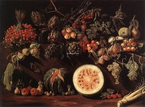 Pietro Paolo Bonzi - Fruit, Vegetables and a Butterfly