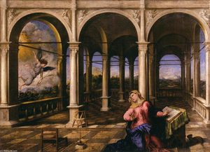 Paris Bordone - Annunciation
