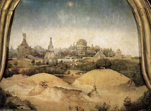 Hieronymus Bosch - Adoration of the Magi (detail) (12)